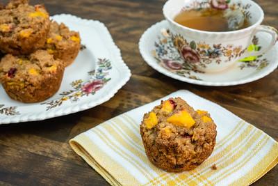 Wheat Germ Peach Muffins