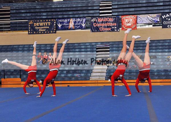 Cheer at Mason Feb 4 - Laingsburg varsity - Round 2