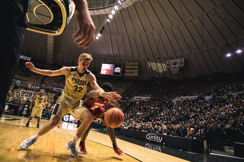 Purdue takes on Wisconsin in Mackey Arena on January 16, 2018