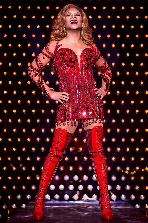". Actor Billy Porter sings during a performance of the play Kinky Boots in this undated handout photo provided by public relations company O&M Co. on April, 30, 2013. The musical ""Kinky Boots,\"" with the score by pop star Cyndi Lauper, on Tuesday earned 13 nominations for the Tony Awards, leading the field for Broadway\'s highest honor and closely followed by British import \""Matilda,\"" which received 12. REUTERS/O&M Co./Matthew Murphy/Handout"
