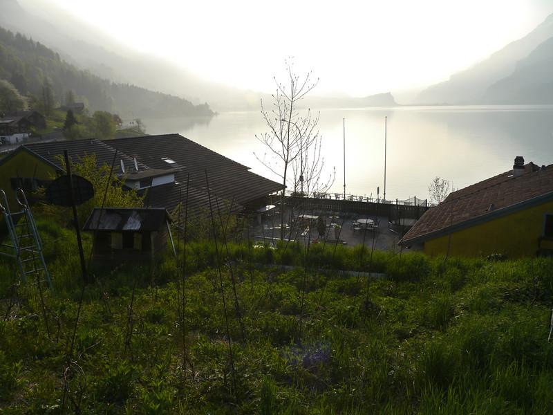 Sicht auf See vom Garten/Weinberg