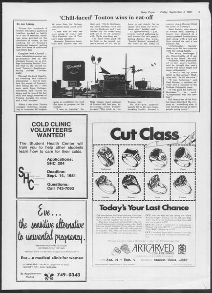 Daily Trojan, Vol. 91, No. 5, September 04, 1981