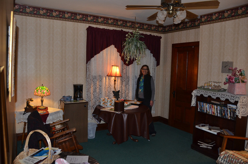Sitting room in the Avery Bed and Breakfast Inn.
