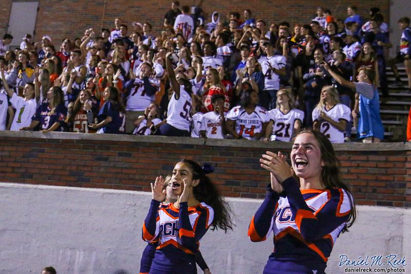 The Powers Catholic Cheer Team Performs at Atwood Stadium