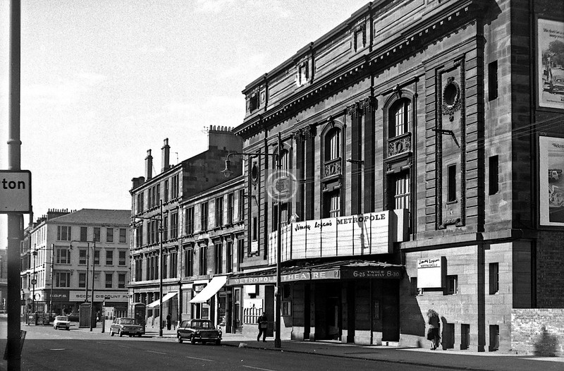 St George's Rd west side south of Glenfarg St.  The Metropole Theatre.  March 1975
