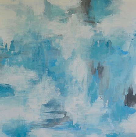 Paint it Blu-Hibberd, 40x40 on canvas (AERS17-2-06)