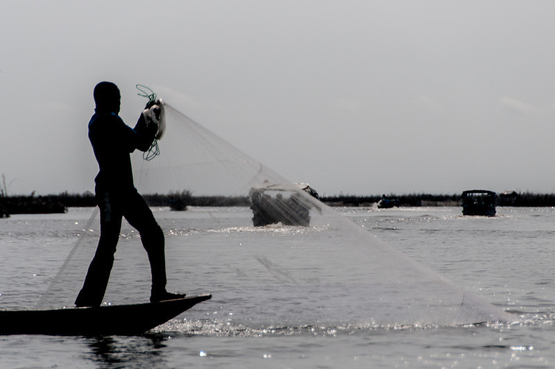 Fishing in Cotonou, Benin