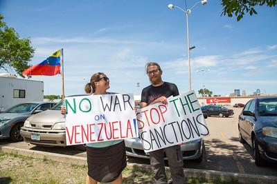 Hands Off Iran / Venezuela - Minneapolis - July 13