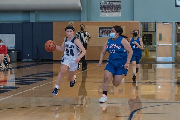 2021 Girls JV Basketball vs. Hillsboro