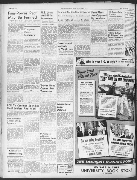 Daily Trojan, Vol. 30, No. 103, March 22, 1939