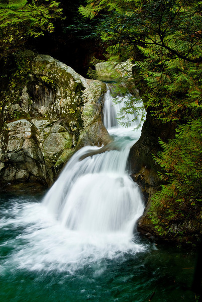 Waterfall in Lynn Canyon. British Columbia