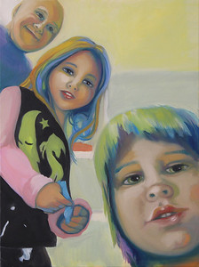 """""""Facetime"""" (acrylic and oil) by Michelle Casale"""