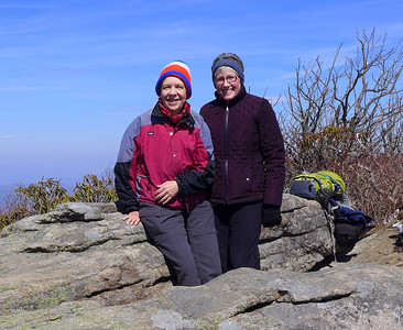 Roan Mountain w Jan on 3-27-14