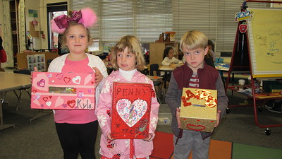 PCY Students Fill Boxes of Love for Valentine's Day