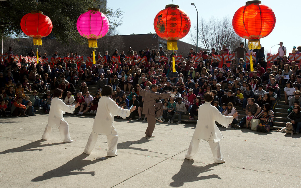 . The Yuanyuan Taiji Group perform during the Oakland Museum of California\'s Lunar New Year celebration to mark the Year of the Snake, Sunday, Feb. 17, 2013 in Oakland, Calif. (D. Ross Cameron/Staff)