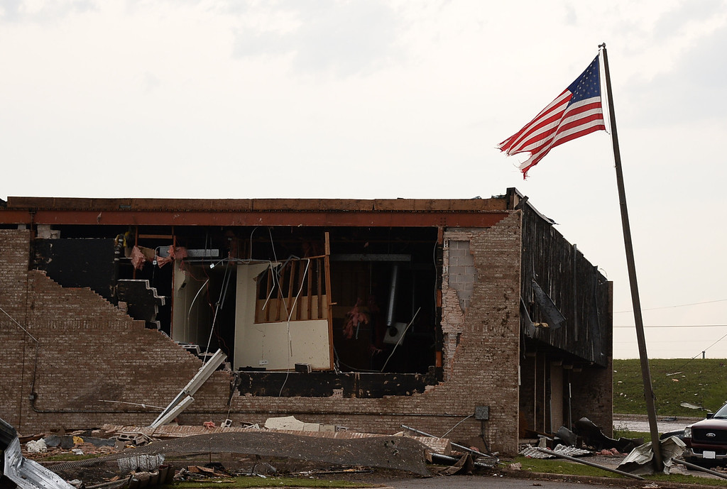 . Damage at the Moore US post office.  