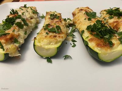 Spanish Stuffed Zucchini with Cheese