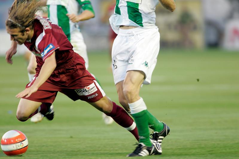 Foul on Diego Capel. Local derby between Real Betis and Sevilla FC, Ruiz de Lopera stadium, Seville, Spain, 11 May 2008.