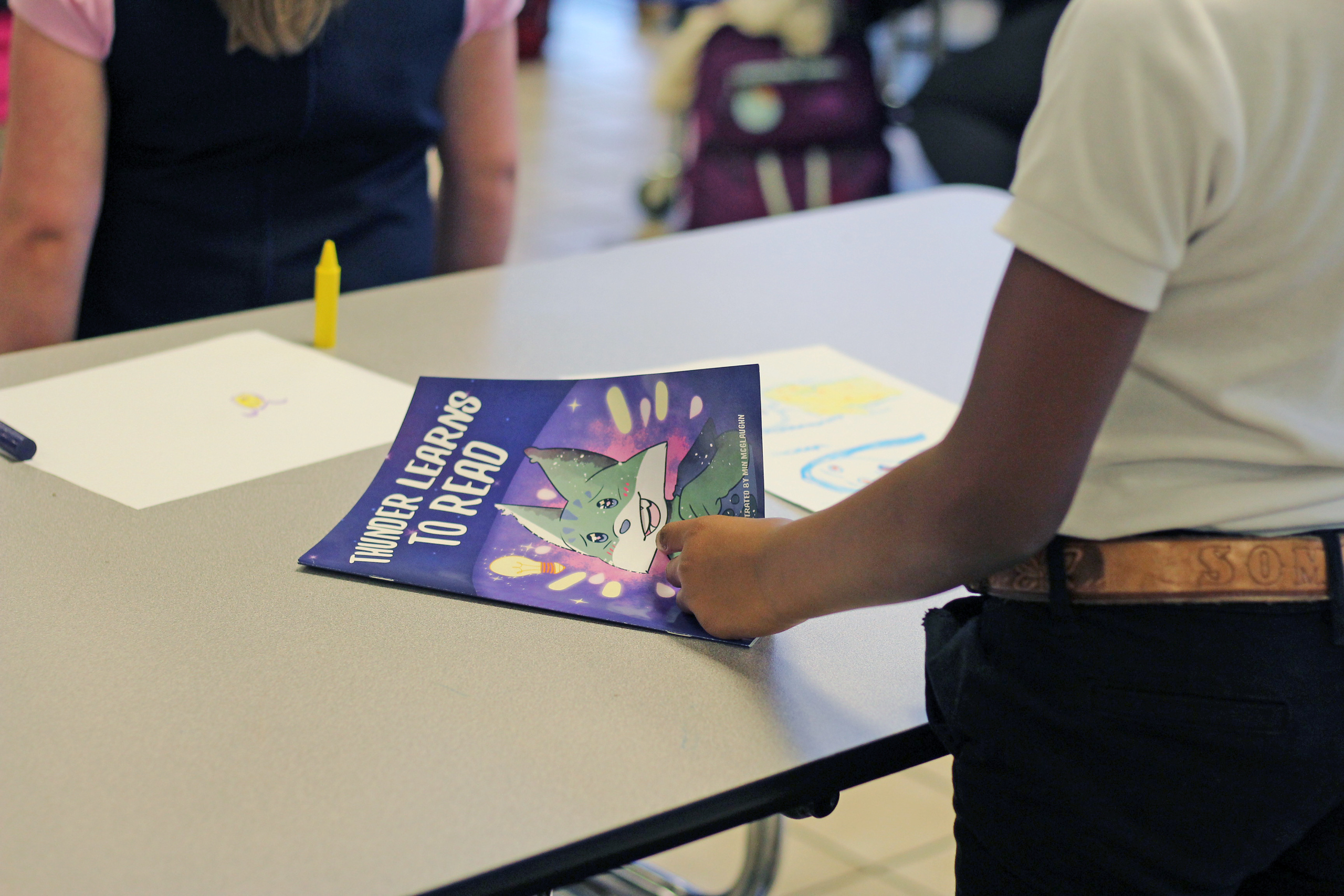 Image for 'Thunder Learns to Read:' Education students use new tools to teach reading