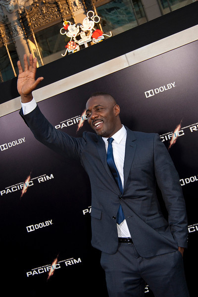 HOLLYWOOD, CA - JULY 09: Actor Idris Elba arrives at the premiere of Warner Bros. Pictures' and Legendary Pictures' 'Pacific Rim' at Dolby Theatre on Tuesday, July 9, 2013 in Hollywood, California. (Photo by Tom Sorensen/Moovieboy Pictures)