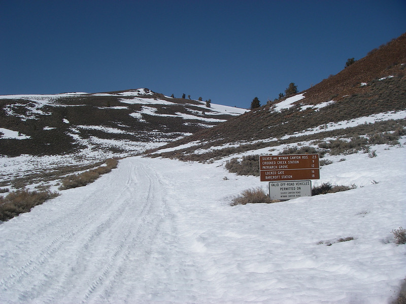 About 25 miles to the White Mtn summit
