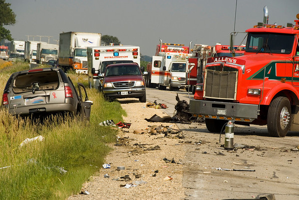 Hampshire July 16. 2008 - MABAS Div 6 5 alarm Dumptruck accident on 72