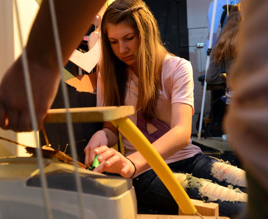 . Bonita High School Accelerated Freshmen Core takes part in the annual Rube Goldberg Project at Bonita High School in La Verne February 27, 2013. (Thomas R. Cordova/Staff Photographer)