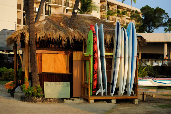 Island time in Kona.  Paddle,surf or kayak, the Kona Boys got you covered!