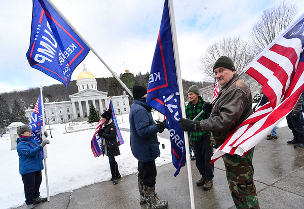 Trump rally at Vermont State House - 010621