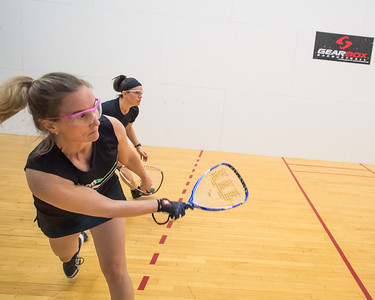 Women's Singles - Open Round Robin T. J. Baumbaugh over Amie Brewer