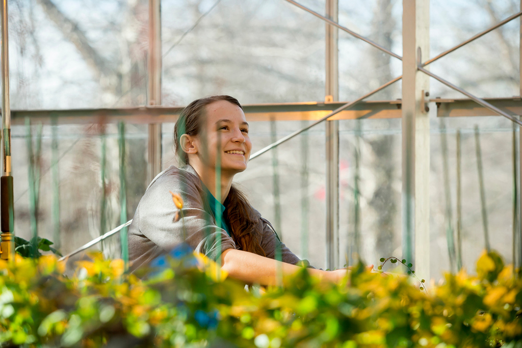 . Horticulture major Nicole Jackson-photo by Betsy Manning