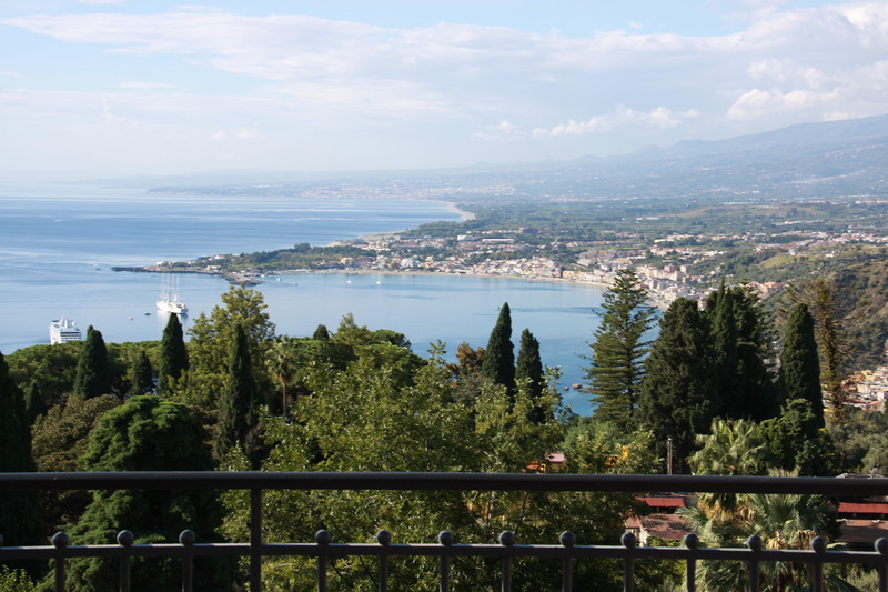 View from our room at the Belmond, Taormina