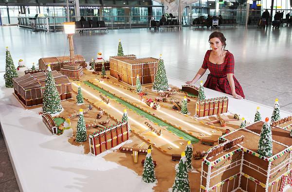 13/12/18 Gingerbread model of Heathrow