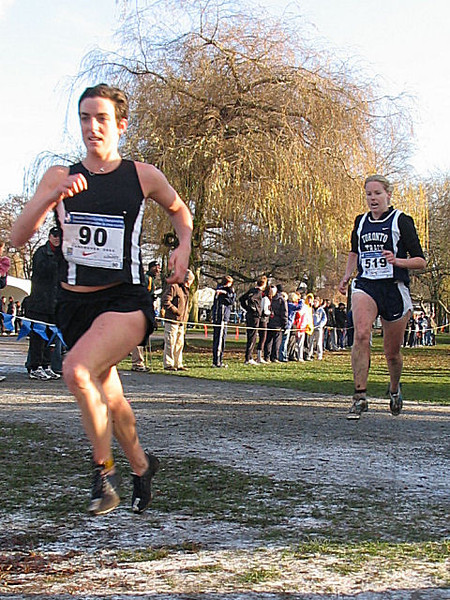 2005 Canadian XC Championships - Megan Metcalfe edges Elizabeth Wightman for 5th