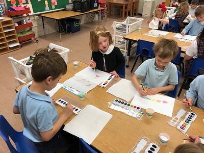 Kindergarten Balloons and chalk