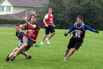 CMS Sr Football 2008 Game 2 vs St. Bernadette Bulldogs Loss 8-15