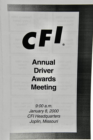 1-8-2000 CFI Drivers of the Year Ceremonies