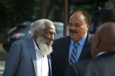 Activist Dick Gregory and Martin Luther King, III