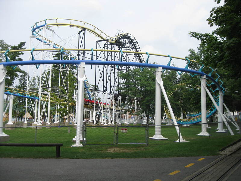 Another view of the new Canobie Corkscrew.