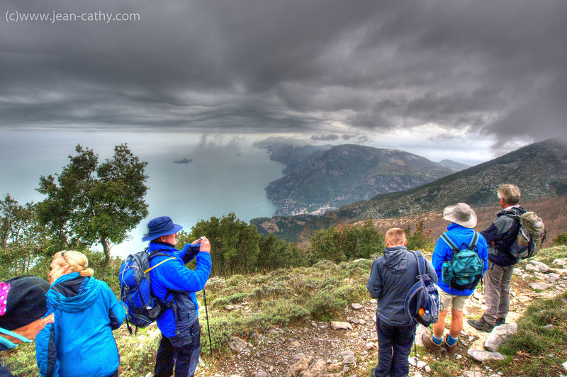 A routine hike in Amalfi. The view here is along the Sorento Peninsula and you can just make out the Island of Capri in the distance.