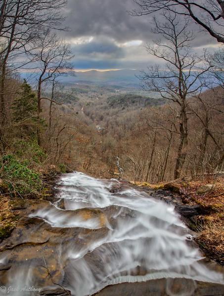 Top of Amicalola Falls at Amicolola  Falls State Park