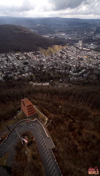 1578 - uasp - Reading Pagoda Drone Vertorama