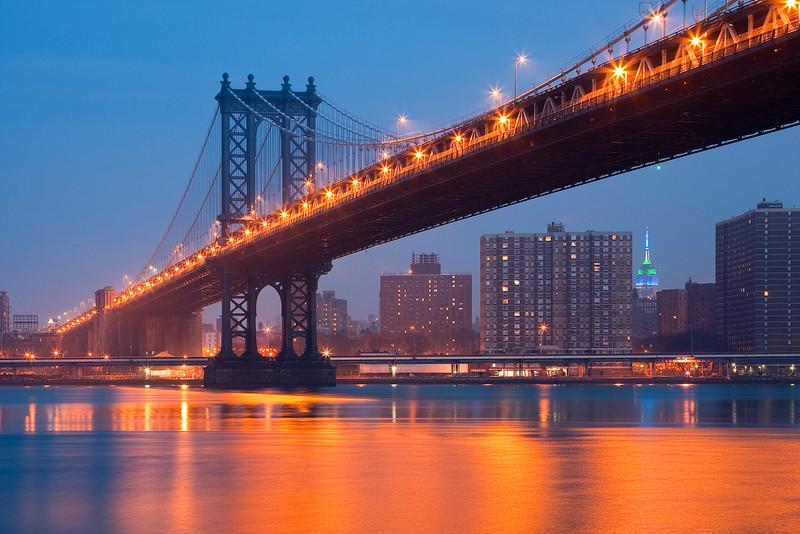Manhattan Bridge and Empire State Building