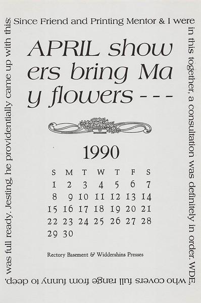 April, 1990, widdershins, Rectory Basement Press