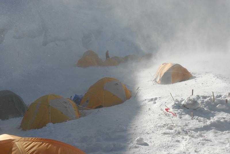 C1 - Camp 1 at around 7.100 meters or 23,294 feet