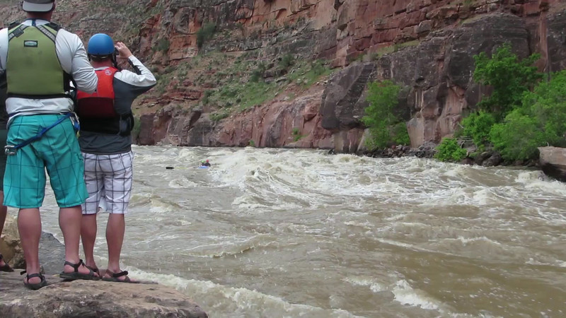 Kuhl and Hans through Warm Springs Rapid
