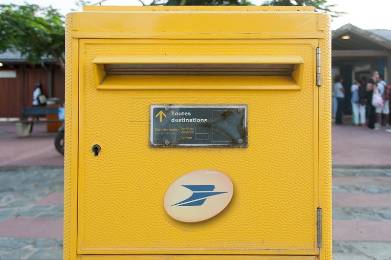 Mail box in Gustavia, Saint Barthelemy