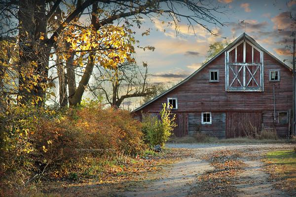 Nebraska Fall barns