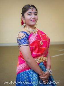 Sharmista Half Saree Function