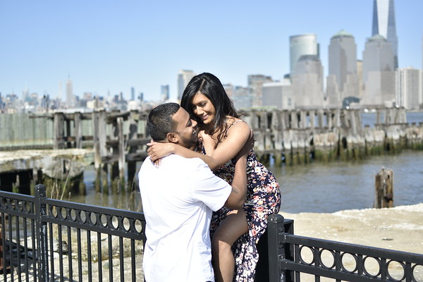 Engagement Photo Shoot - Liberty State Park
